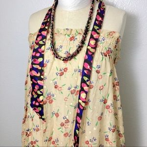 Chain scarf pink